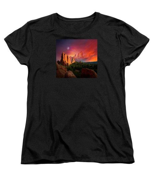 Heavenly Garden Women's T-Shirt (Standard Cut) by John Hoffman