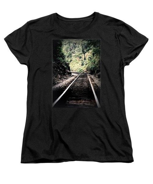 Hegia Burrow Railroad Tracks  Women's T-Shirt (Standard Cut)