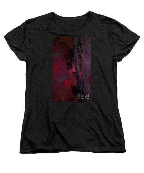 Women's T-Shirt (Standard Cut) featuring the photograph Helping In The Art Studio by Jacqueline McReynolds