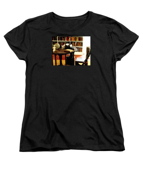 Women's T-Shirt (Standard Cut) featuring the photograph Hemingway's Studio Ernest Hemingway Key West by Iconic Images Art Gallery David Pucciarelli