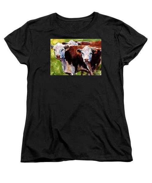 Hereford Ears Women's T-Shirt (Standard Cut) by Molly Poole