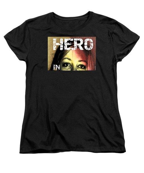 Women's T-Shirt (Standard Cut) featuring the photograph Hero In Part Two by Sir Josef - Social Critic - ART