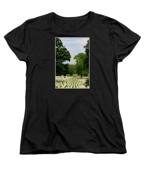 Heroes And A Monument Women's T-Shirt (Standard Cut) by Patti Whitten
