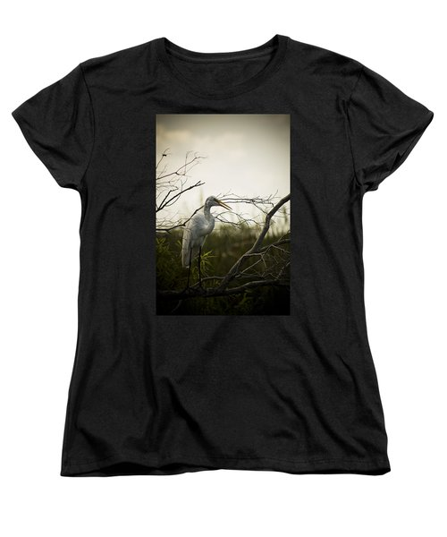 Heron At Dusk Women's T-Shirt (Standard Cut) by Bradley R Youngberg