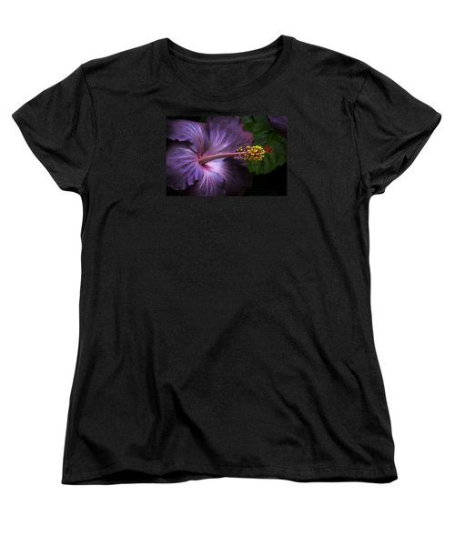 Hibiscus Bloom In Lavender Women's T-Shirt (Standard Cut) by Julie Palencia