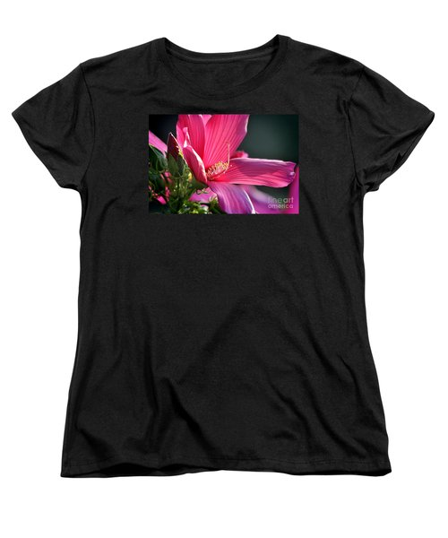 Women's T-Shirt (Standard Cut) featuring the photograph Hibiscus Morning Bright by Nava Thompson