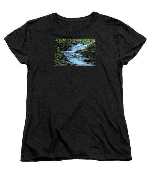 Women's T-Shirt (Standard Cut) featuring the photograph Hidden Falls by Julie Andel