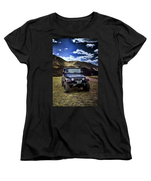High Country Adventure Women's T-Shirt (Standard Cut) by Ellen Heaverlo