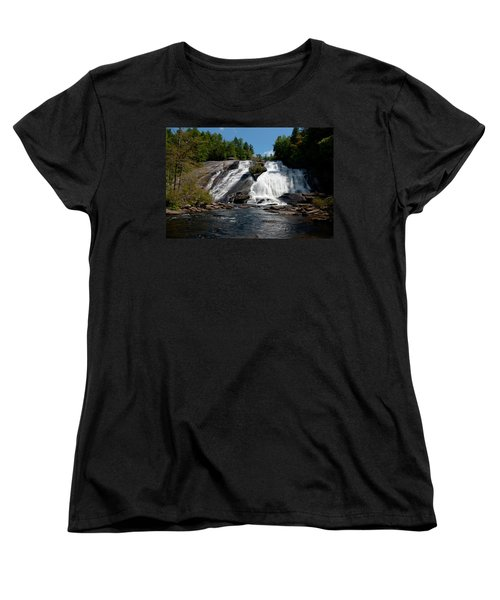 Women's T-Shirt (Standard Cut) featuring the photograph High Falls North Carolina by Charles Beeler