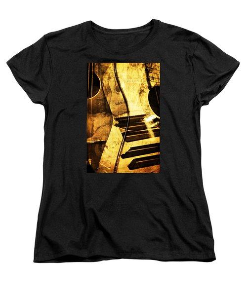 High On Music Women's T-Shirt (Standard Cut) by Randi Grace Nilsberg