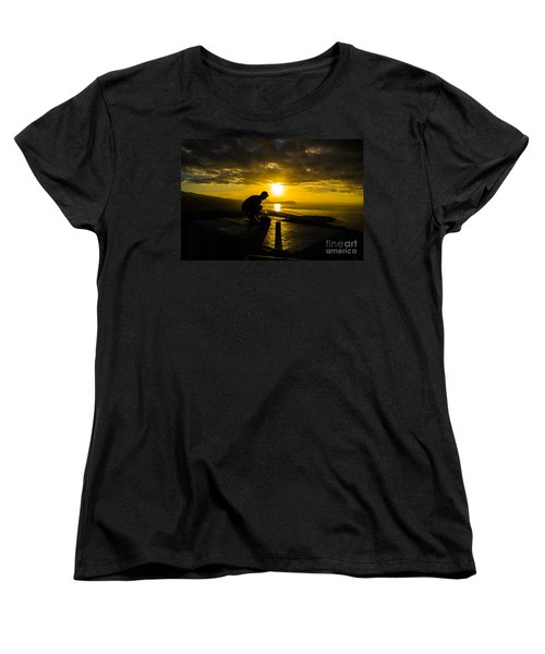 Hiker @ Diamondhead Women's T-Shirt (Standard Cut) by Angela DeFrias