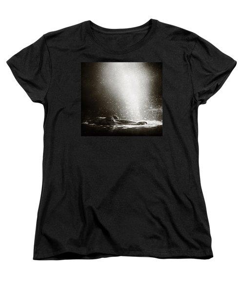 Hippo Blowing  Air Women's T-Shirt (Standard Cut)