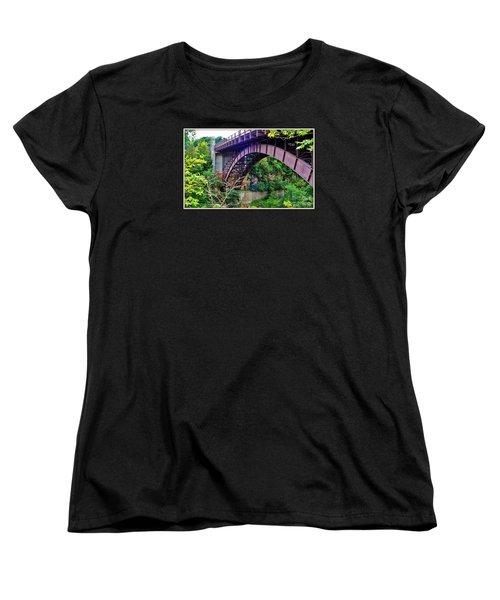 Women's T-Shirt (Standard Cut) featuring the photograph Historic Ausable Chasm Bridge by Patti Whitten