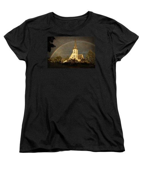 Historic Methodist Church In Rainbow Light Women's T-Shirt (Standard Cut) by Mick Anderson