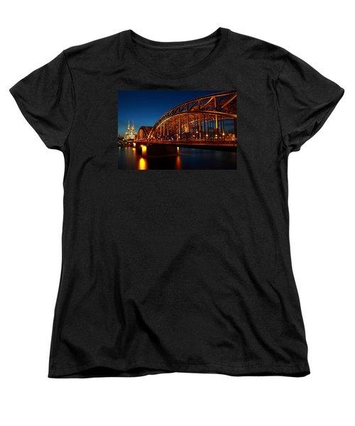Hohenzollern Bridge Women's T-Shirt (Standard Cut) by Mihai Andritoiu