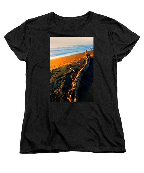 Women's T-Shirt (Standard Cut) featuring the photograph Hokitika Beach New Zealand by Amanda Stadther