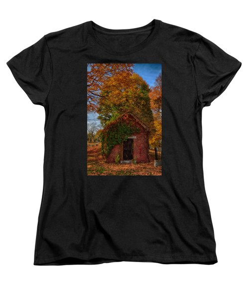 Women's T-Shirt (Standard Cut) featuring the photograph Holding Up The  Fall Colors by Jeff Folger