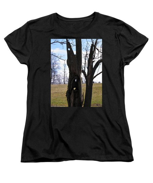 Women's T-Shirt (Standard Cut) featuring the photograph Holey Tree Trunk by Nick Kirby
