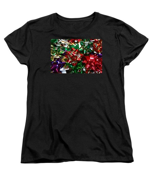 Holiday Bows Women's T-Shirt (Standard Cut) by Denyse Duhaime