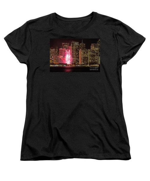 Holiday Lights Women's T-Shirt (Standard Cut) by Kate Brown