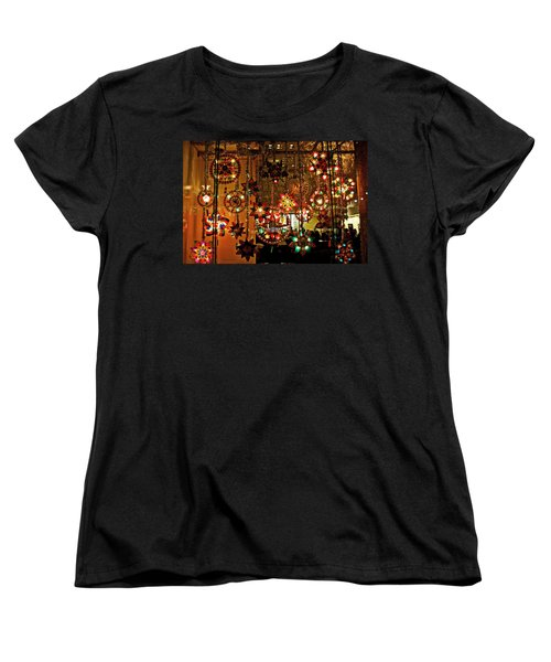 Holiday Lights Women's T-Shirt (Standard Cut) by Suzanne Stout