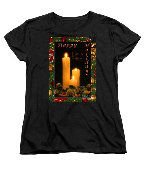 Holiday Love Declaration2 Women's T-Shirt (Standard Cut) by Terry Wallace