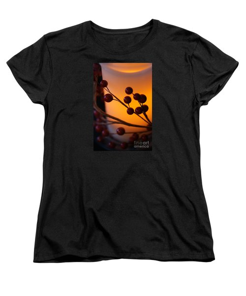 Holiday Warmth By Candlelight 1 Women's T-Shirt (Standard Cut) by Linda Shafer