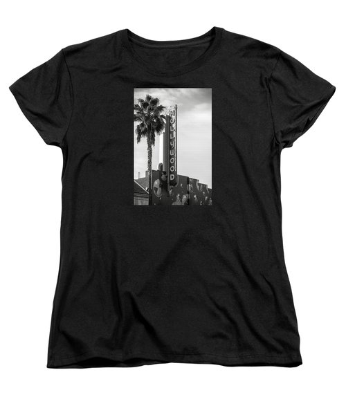 Hollywood Landmarks - Hollywood Theater Women's T-Shirt (Standard Cut) by Art Block Collections