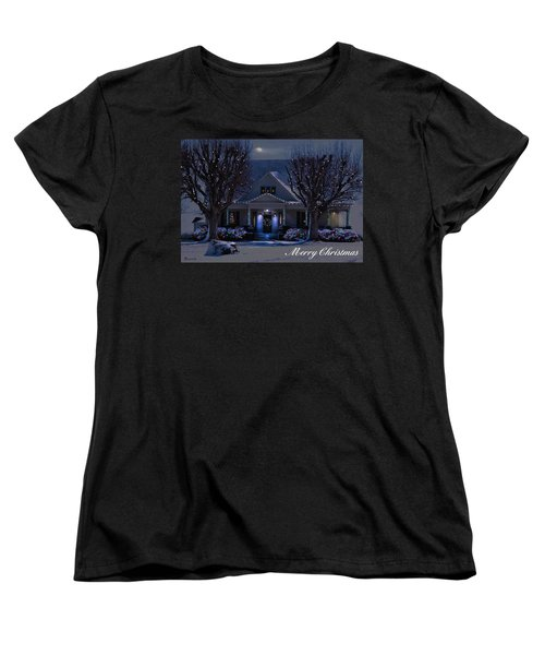Women's T-Shirt (Standard Cut) featuring the photograph Home For Christmas by Bonnie Willis