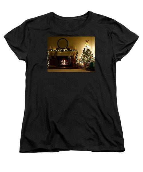 Home For The Holidays Women's T-Shirt (Standard Cut) by Ellen Henneke