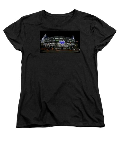 Home Of The Cleveland Indians Women's T-Shirt (Standard Cut) by Terri Harper