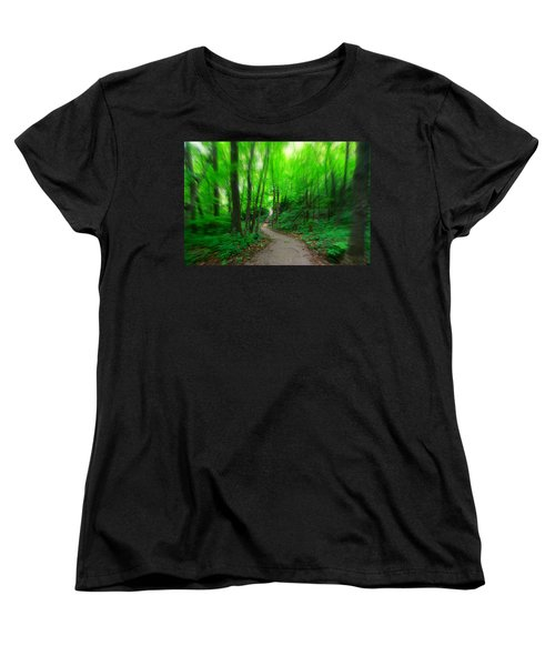 Hopkins Path Women's T-Shirt (Standard Cut) by Amanda Stadther