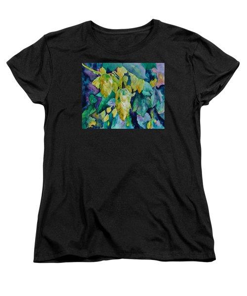 Hops Women's T-Shirt (Standard Cut) by Beverley Harper Tinsley