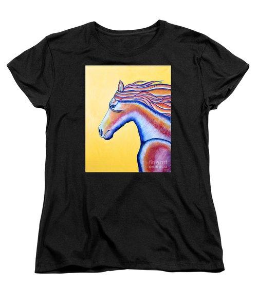 Women's T-Shirt (Standard Cut) featuring the painting Horse 1 by Joseph J Stevens