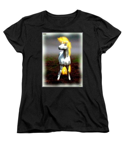 Women's T-Shirt (Standard Cut) featuring the digital art Horse by Daniel Janda