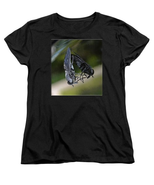 Women's T-Shirt (Standard Cut) featuring the photograph Horse Fly by DigiArt Diaries by Vicky B Fuller