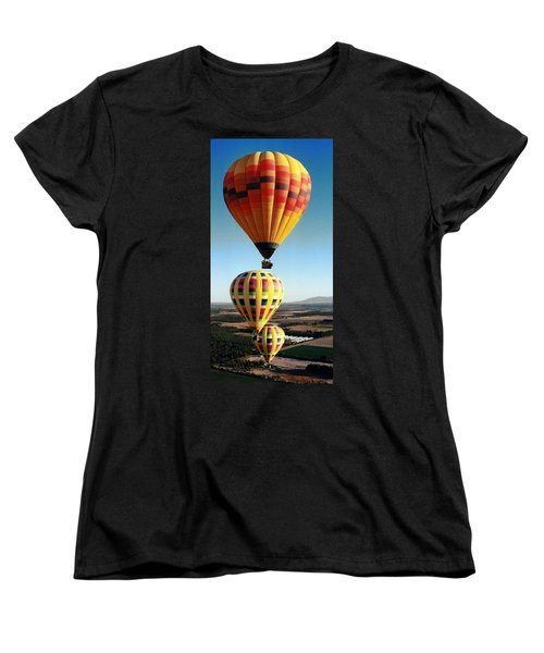 Balloon Stacking Women's T-Shirt (Standard Cut) by Richard Engelbrecht