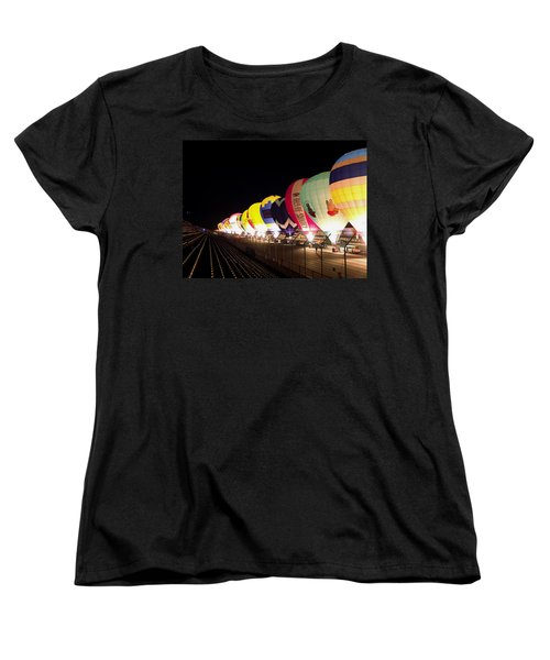 Balloon Glow Women's T-Shirt (Standard Cut) by John Swartz