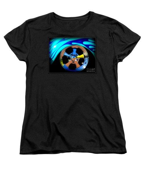 Women's T-Shirt (Standard Cut) featuring the photograph Hot Hot Wheels  by Bobbee Rickard