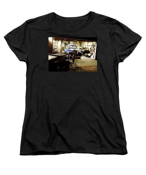 Hot Rod Garage Women's T-Shirt (Standard Cut) by Alan Johnson