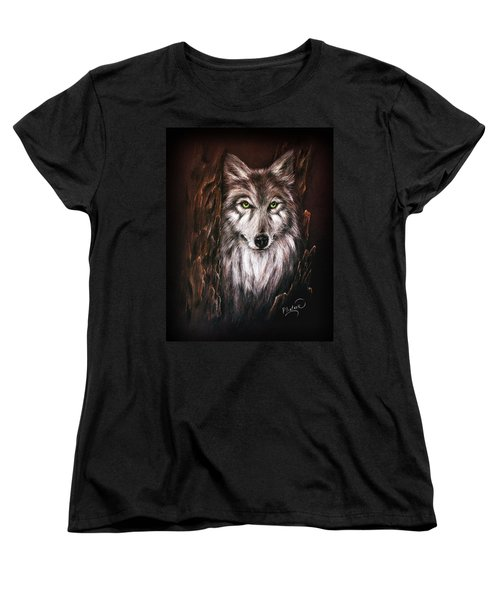 Hunter In The Night Women's T-Shirt (Standard Cut) by Patricia Lintner