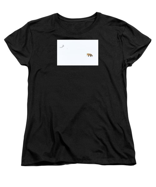 Women's T-Shirt (Standard Cut) featuring the photograph Hunting In White by Yeates Photography