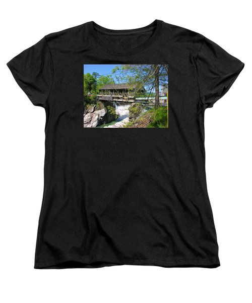 Women's T-Shirt (Standard Cut) featuring the photograph Hurricane Irenes Destruction by Sherman Perry