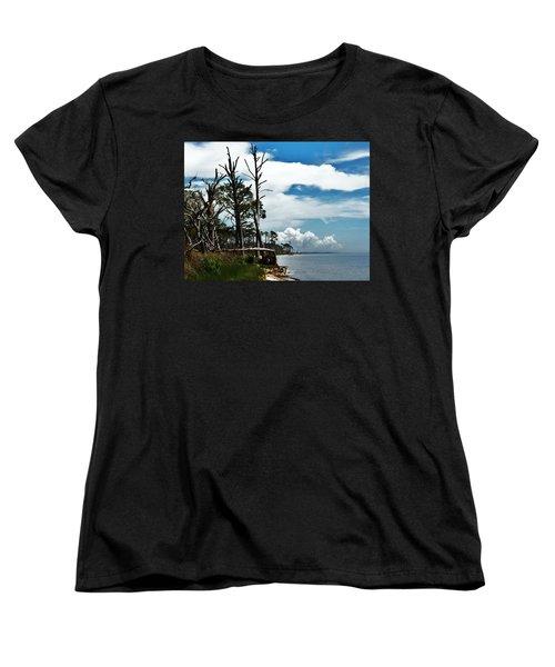 Women's T-Shirt (Standard Cut) featuring the photograph Hurricane Trail by Faith Williams