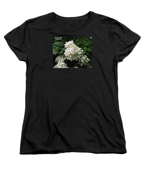 Women's T-Shirt (Standard Cut) featuring the photograph Hydrangea Arborescens ' Annabelle ' by William Tanneberger