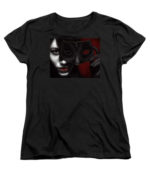 Women's T-Shirt (Standard Cut) featuring the painting I Am Only What I Allow You To See by Pat Erickson