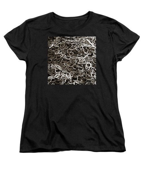 Women's T-Shirt (Standard Cut) featuring the photograph I Can't Find My Other Shoe by Carol Lynn Coronios