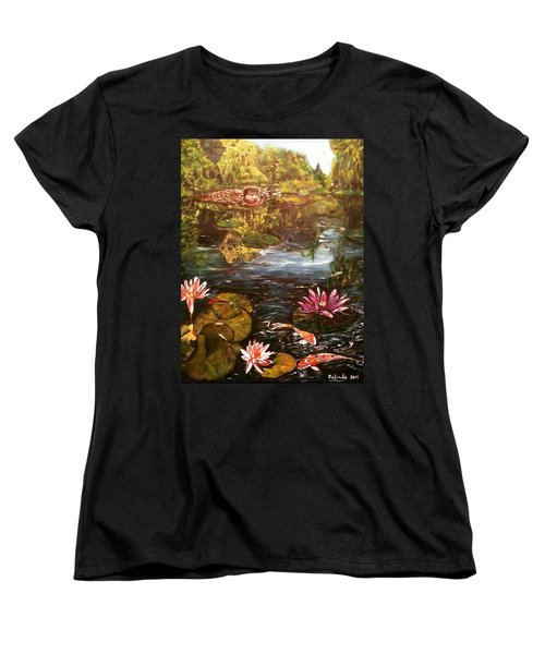 Women's T-Shirt (Standard Cut) featuring the painting I Want To Be Where You Are by Belinda Low