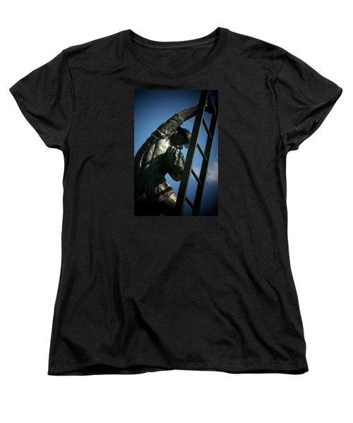 Iaff Fallen Firefighters Memorial  2 Women's T-Shirt (Standard Cut) by Susan  McMenamin