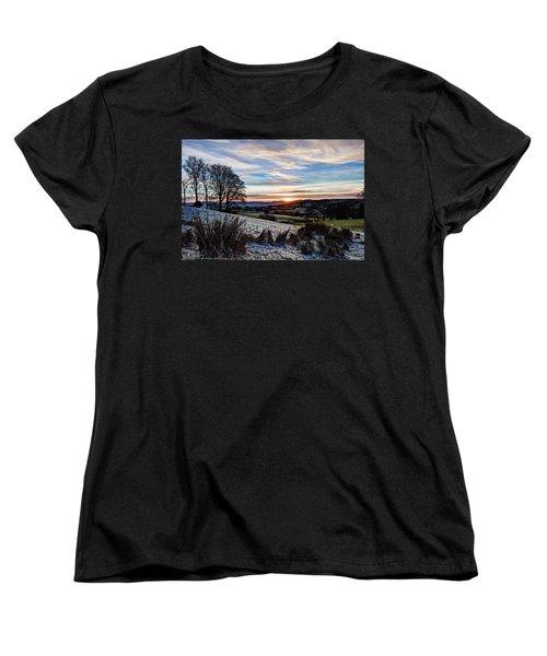 Icy Sunset Women's T-Shirt (Standard Cut) by Beverly Cash